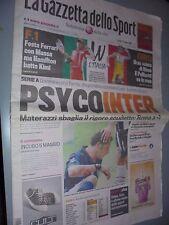 GAZZETTA DELLO SPORT 12-05-2008 FC INTER PSYCO INTER MASSA RICCO'