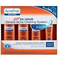ACNEFREE University Medical SEVERE ACNE BENZOYL PEROXIDE Pimple 4pc System 5/16