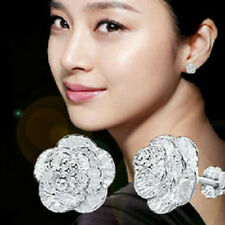 Korea Style Silver Cherry Allergy Charms Ear Studs Flower Earrings Women Jewelry