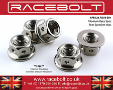 Aprilia RSV4 09+ Rear Sprocket Nut Kit - Racebolt Titanium Race Spec