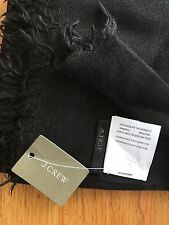 NWT J Crew Women's Refined Silk Cashmere Wrap Scarf Black #74585 Retail