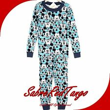 NWT HANNA ANDERSSON ORGANIC LONG JOHNS PAJAMAS MICKEY MOUSE BLUE MICKEY 150 12