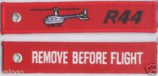 """ROBINSON R44 HELICOPTER """"REMOVE"""" KEYCHAIN  - KEY044"""