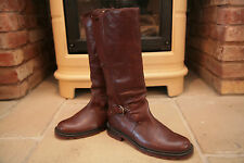 Rare Bally Men's Brown Leather Tall Field Boots Shoes Size UK 9