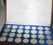 Full Set 1976 Canadian Montreal Olympic 28 Sterling Silver Coin & original box#2
