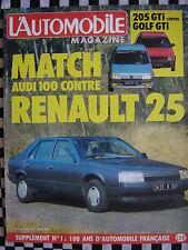 revue L'AUTOMOBILE 1984 PEUGEOT 205 GTI + VOLKSWAGEN GOLF GTI / RENAULT 25