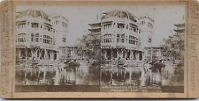 Paris Exposition Universelle 1900 Pavillon Bleu Vintage stereo stereoview