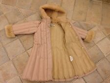 Girl  Genuine I Pinco Pallino Down Jacket Coat Dusty  Pink Size 4 for 3-4 Years