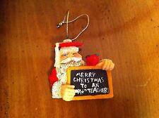 1998 Christmas Around World House Of LLoyds Santa Claus Great Teacher Ornament