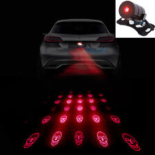 Skull Led Laser Fog Light Rear Anti-Collision Brake Tail lights Warning Lamp R