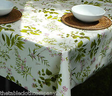 1.4x1.4M SQUARE HERB GARDEN PVC WIPECLEAN TABLECLOTH WITH PARASOL HOLE