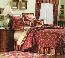 RED GOLD SAGE Twin Single QUILT SET : FRENCH COUNTRY CASPIENNE STRIPE FLORAL