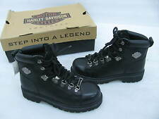 New Harley Davidson Womens Black Leather Boots #81610 size 6