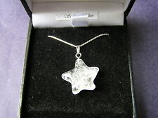 Stunning Quartz Star Necklace -On Solid Silver Chain -SIMPLE BUT STUNNING!