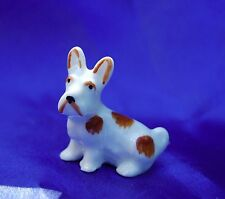 Walter Bosse design Deco Porcelain dog Germany Norwich Scotty  brown white