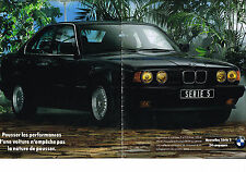 PUBLICITE ADVERTISING  1990   BMW   série 5  (2 pages)