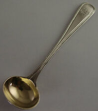 Large Victorian Solid Silver Salt Spoon - London 1878