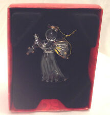 FAITH AT HOME GLASS CHRISTMAS ORNAMENT ANGEL WITH CROSS 5TH IN SERIES IOB