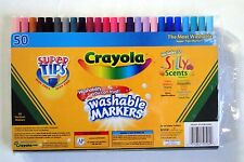 Crayola SuperTips 50 Washable Markers with 12 Willy Scent Markers