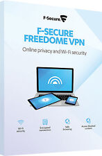 F-Secure Freedome VPN On-line Vita privata & Wi-Fi Di sicurezza 5 Dispositivi