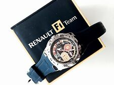 RENAULTmodernluxury chronograph sport Men's ChronotechF1Team watch silicone band