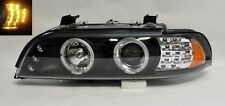 Black Projector Halo LED Headlights Fits BMW E39 5 Series 97-03