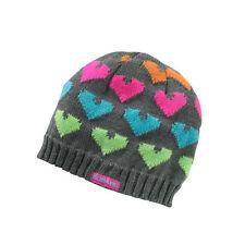 Genuine Subaru Heart Beanie Ladies Hearts Hat Impreza STI WRX Gray Ski Snow oem