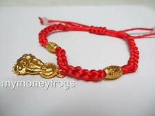 Feng Shui Oriental Kwan Yin Chinese Bead Buddhist Red String Bracelet Jewelry #Q