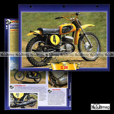 #090.12 Fiche Moto CZ 380 1971-77 MOTO CROSS Motorcycle Card