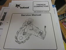 Bobcat Trench Compactor Service Manual