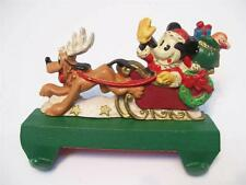 MIDWEST Cast Iron Disney MICKEY SANTA & PLUTO Double STOCKING HOLDER Hanger