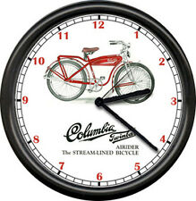 Columbia Bicycle 1950's Service Dealer Sign Wall Clock