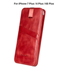 iPhone 7 Plus /6 Plus / 6S Plus Sleeve, FUTLEX Genuine Vintage Leather Pull Tab
