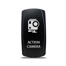 CH4x4 Rocker Switch Action Camera Symbol - Green LED