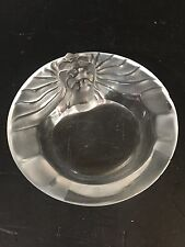 Lalique France Crystal Tete De Lion Art Glass Cigar Cigarette Ashtray Bowl chip
