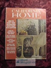 CALIFORNIA HOME WINTER 1966 Decorating Carpeting Crepes Suzette Recipes