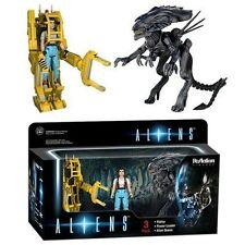 Funko Aliens - Ripley Power Loader and Xenomorph Queen ReAction Figure 3-Pack