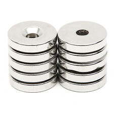 10pcs Strong Ring Round Magnets Disc Hole 5mm N52 Rare Earth Neodymium 25mm x 5m