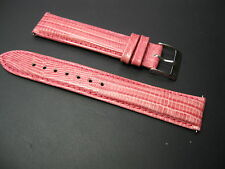18 mm Elini Pink Genuine Leather Lizard Watch Band! strap EZ Quick Release Pins!