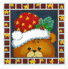 *New* LEE Holiday Teddy Bear handpainted Needlepoint Canvas on 16 Mesh