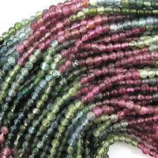 "2mm watermelon tourmaline round beads 13.5"" strand seed"