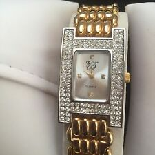 ELIZABETH TAYLOR LADIE'S LUXURY WATCH WITH CRYSTALS  ELEGANT GIFT FOR HER