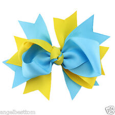 New Kids Girls Baby Hair Clips Bows Ribbon Bowknot Headwear With Clip