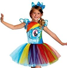 My Little PONY RAINBOW DASH Dress Deluxe Toddler Costume With Glovettes XS NEW