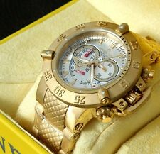New Mens Invicta 5406 Subaqua Chronograph Gold Tone Steel Bracelet Watch