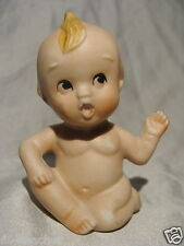 ANTIQUE GERMAN ALL BISQUE DOLL*PORCELAIN KEWPIE BABY DOLL~GERMANY HALF DOLL Re.