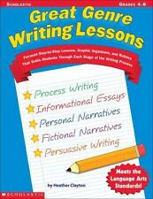 Great Genre Writing Lessons : Focused Step-by-Step Lessons, Graphic Organizers,…