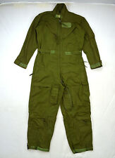 Vintage Vietnam Army Green Summer Flying Fire Resistant Coveralls Jumpsuit 40 R