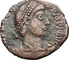 PROCOPIUS Usurper Emperor Chi-Rho Labarum 365AD RARE Ancient Roman Coin i58374
