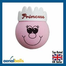 Cute Pink Princess Car Aerial Ball Antenna Topper
